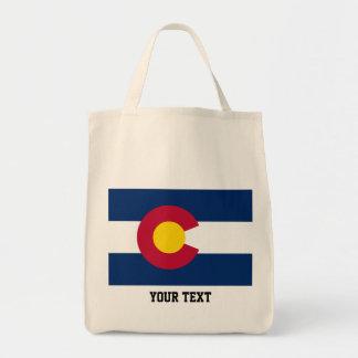 Bandera de Colorado, bandera del estado americano Bolsa Tela Para La Compra