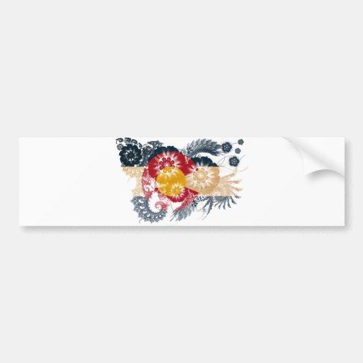 Bandera de Colorado Pegatina De Parachoque