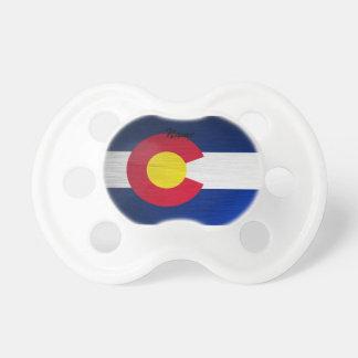 Bandera de Colorado cepillada Chupetes