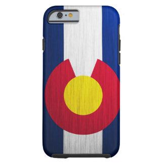 Bandera de Colorado cepillada Funda Para iPhone 6 Tough