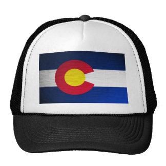 Bandera de Colorado cepillada Gorras De Camionero