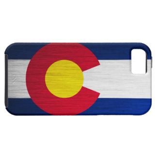 Bandera de Colorado cepillada iPhone 5 Carcasas