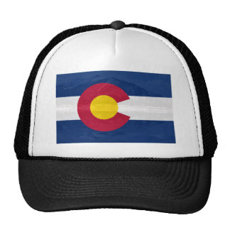 Bandera de Colorado con el fondo de la montaña Gorro De Camionero