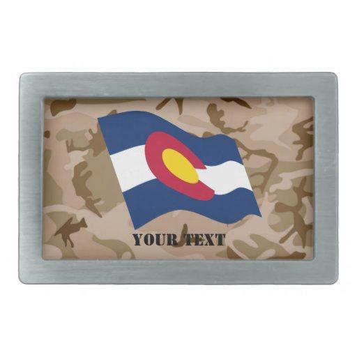 Bandera de Colorado con la hebilla del cinturón de Hebillas Cinturon Rectangulares