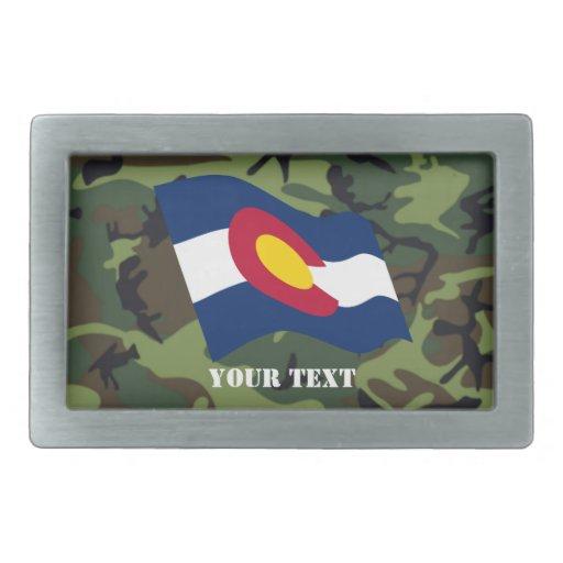 Bandera de Colorado con la hebilla del cinturón de Hebillas De Cinturon Rectangulares