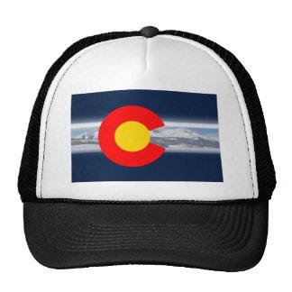 Bandera de Colorado con las montañas Gorro De Camionero