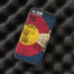 Bandera de Colorado del Grunge Funda Resistente iPhone 6