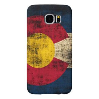 Bandera de Colorado del Grunge Fundas Samsung Galaxy S6