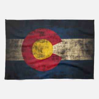 Bandera de Colorado del Grunge Toalla De Mano