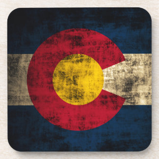 Bandera de Colorado del Grunge Posavasos De Bebidas