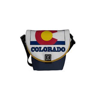 Bandera de Colorado en mapa Bolsa De Mensajeria