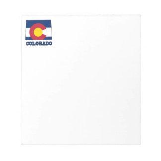 Bandera de Colorado en mapa Libretas Para Notas