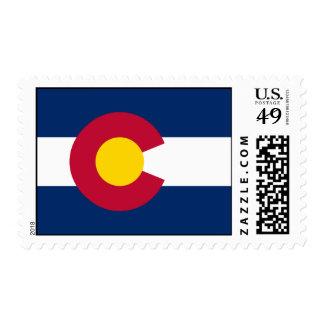 Bandera de Colorado Estampilla