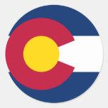 Bandera de Colorado Etiquetas
