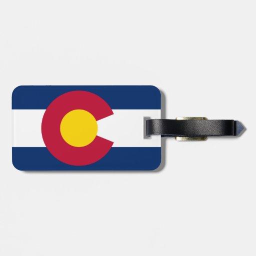 Bandera de Colorado Etiquetas Para Maletas
