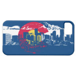 Bandera de Colorado - horizonte de Denver - caja Funda Para iPhone 5 Barely There