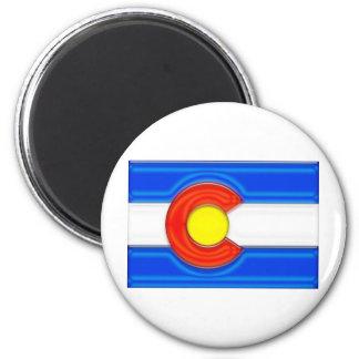 Bandera de Colorado Imán Redondo 5 Cm