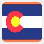 Bandera de Colorado Pegatina Cuadrada