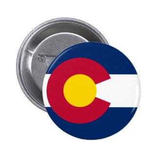 Bandera de Colorado Pin Redondo De 2 Pulgadas