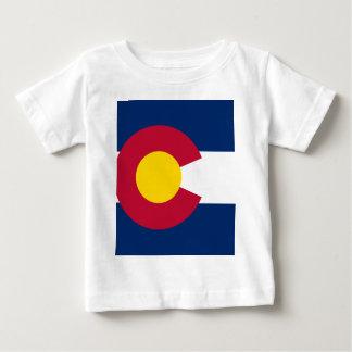 Bandera de Colorado Playera De Bebé