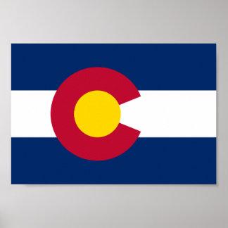 Bandera de Colorado Póster