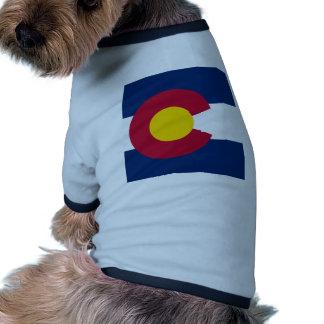 Bandera de Colorado Camiseta Con Mangas Para Perro