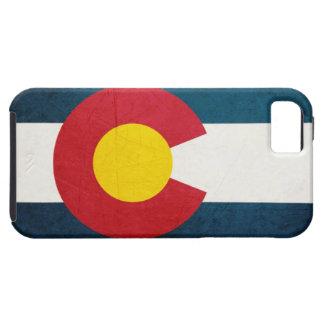 Bandera de Colorado rústica iPhone 5 Case-Mate Carcasas