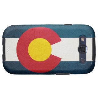 Bandera de Colorado rústica Galaxy SIII Funda