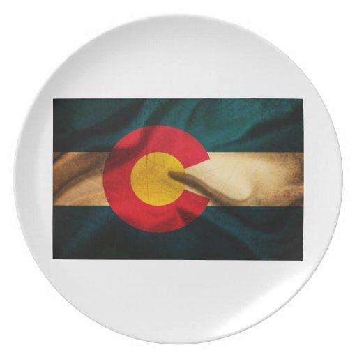 Bandera de Colorado sedosa Platos