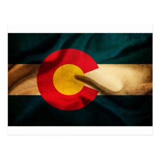 Bandera de Colorado sedosa Postales