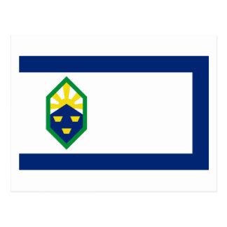 Bandera de Colorado Springs Tarjeta Postal