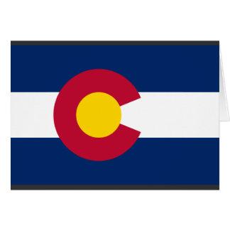 Bandera de Colorado Tarjeta De Felicitación