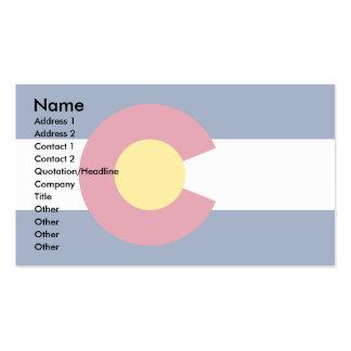 Bandera de Colorado Tarjetas De Visita
