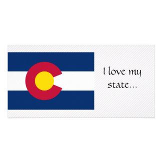 Bandera de Colorado Plantilla Para Tarjeta De Foto
