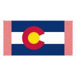 Bandera de Colorado Tarjeta Fotografica