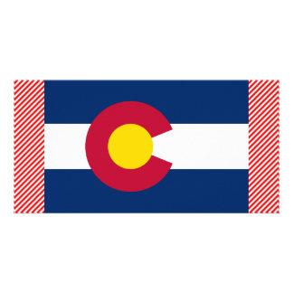 Bandera de Colorado Tarjeta Fotografica Personalizada