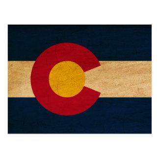 Bandera de Colorado Tarjeta Postal
