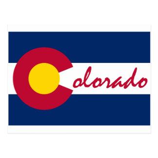 Bandera de Colorado Tarjetas Postales