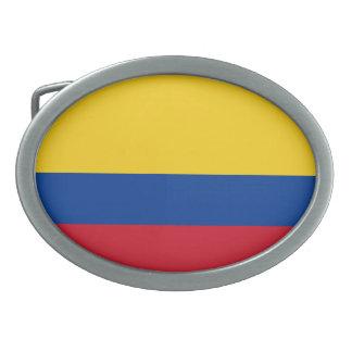Bandera de Columbia, República de Colombia Hebillas Cinturón Ovales