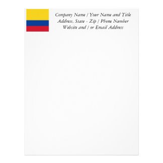 Bandera de Columbia, República de Colombia Plantilla De Membrete