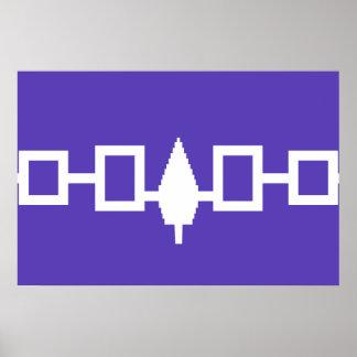 Bandera de Confederacy del Iroquois Posters