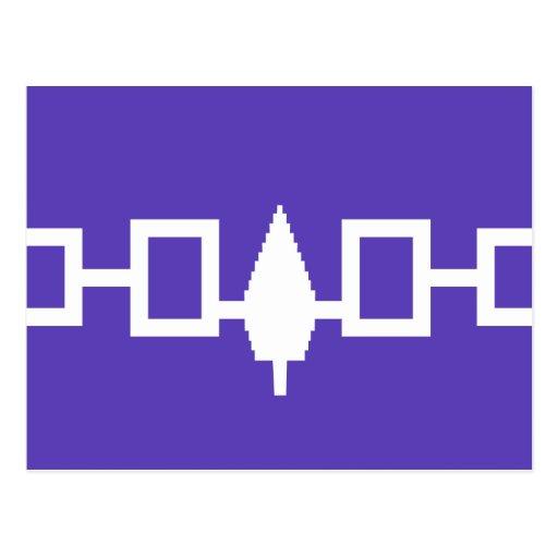 Bandera de Confederacy del Iroquois Tarjeta Postal