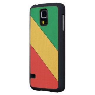 Bandera de Congo 2 Funda De Galaxy S5 Slim Arce