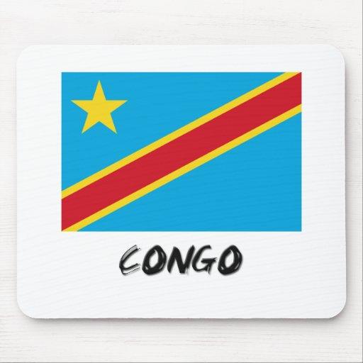 Bandera de Congo Alfombrilla De Ratón