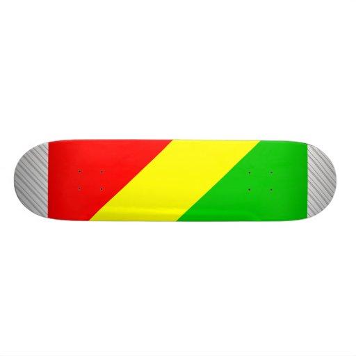 Bandera de Congo Brazzaville Patines