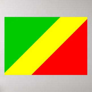 Bandera de Congo Brazzaville Póster