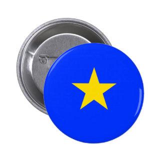 Bandera de Congo Kinshasa Pin Redondo 5 Cm