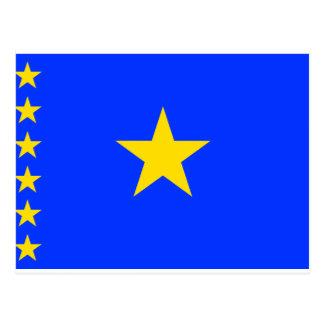 Bandera de Congo Kinshasa Postales
