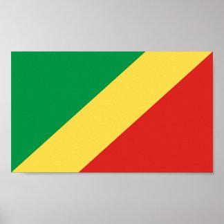 Bandera de Congo Póster