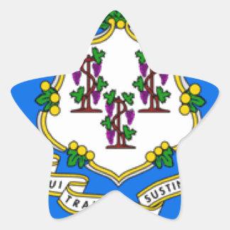 Bandera de Connecticut Colcomanias Forma De Estrellas